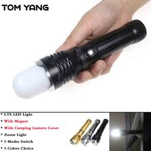 TOM YANG Outdoor Camping Lantern High Power LTS LED Flashlight Zoomable 3 Mode Torch With Magnet Rechargeable Hiking Lamp Light
