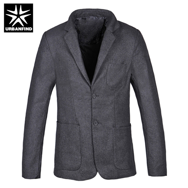 URBANFIND New Slim Fit Casual Jacket Cotton Men Blazer Single Button Mens Suit Jacket 2016 Man Autumn Spring Winter Coats