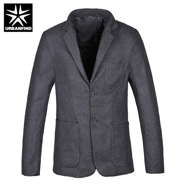 URBANFIND New Slim Fit Casual Jacket Cotton Men Blazer Single Button Mens Suit Jacket 2016 Man Autumn Spring Winter Coats