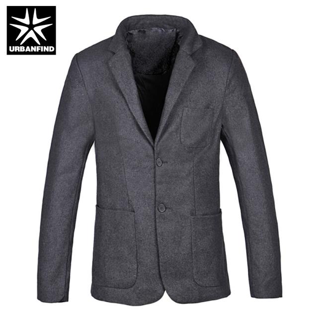 Urbanfind nueva slim fit cotton jacket casual hombres chaqueta de un solo botón chaqueta de traje de hombre 2016 hombre otoño primavera abrigos de invierno