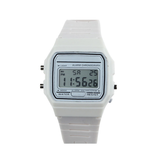 Digital-watch Sports Watches Men 2018 Retro Vintage digital Silicone Rubber Stra