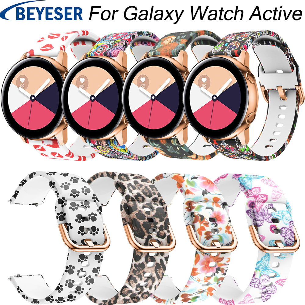 For Samsung Galaxy Watch Active 20mm Silicone Watchband Strap For Gear S2 Sport Replacement Band For Samsung Galaxy Watch 42mm