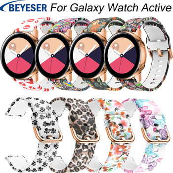 For Samsung Galaxy Watch Active 20mm silicone watchband strap for Gear S2 sport replacement band for Samsung galaxy watch 42mm 20mm watch strap for samsung galaxy watch active sports silicone replacement band for samsung galaxy watch 42mm bracelet belt
