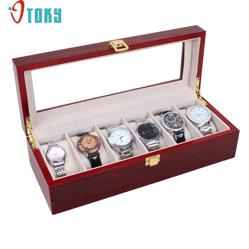 2a98dfbea Creative Casual Box For Bracelet Bangle Jewelry Watch Box 6 Slot ...