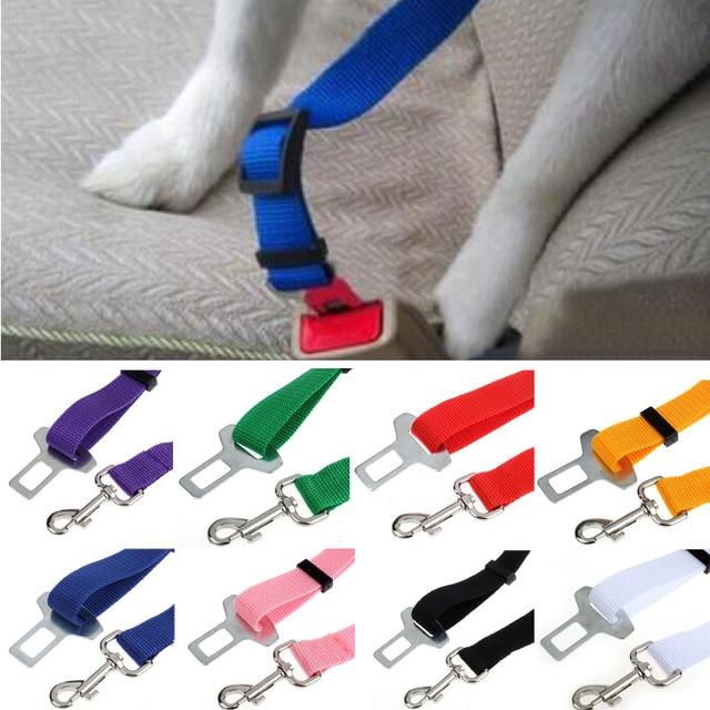 Colori Dog Cat Safety Car Belt Harness Regolabile Pet cucciolo Cucciolo Hound Ve