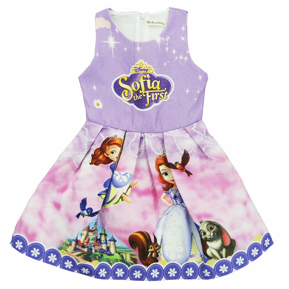 zomer Gils jurk nieuwe Sophia prinsessenjurk baby Mouwloze slanke - Kinderkleding - Foto 3