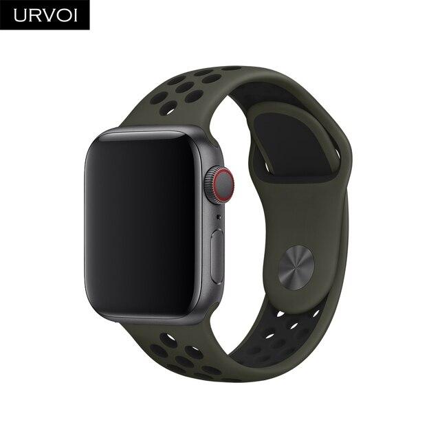 URVOI 2018 bande pour apple watch Nike + série 4 3 2 1 léger Respirant  silicone