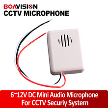 CCTV Microphone DC6-12V Power Wide Range Mic Audio Microphone CCTV Clear Sound Audio Pick up Device Microphone for Camera