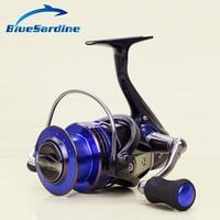 BlueSardine New 13+1BB 5.2:1 Quality Spinning Fishing Reel Wheel Blue Spinning Reel Fishing Tackle