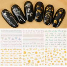 3D Laser Sliders for Nails Stickers for Nails Lovely Heart L