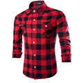 Мужская Плед Рубашки сорочки для мужчин Рубашки Туник, марка одежды homme Camisas masculina Социальной Classcial Плед Узор Рубашки