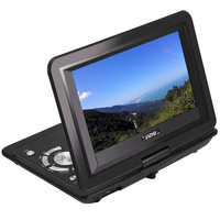 Outdoor Swivel Screen 13.9inch USB TV Game HD Car CD Mini Rechargeable Battery LCD Portable DVD Player Home