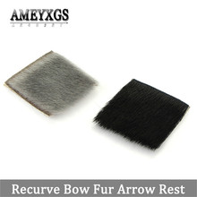 2pcs Fur Arrow Rest Recurve Bow Longbow Traditional Bow Shooting Silencer Arrow Rest For Outdoor Hunting Archery Accessories archery traditional laminated bow set 6 pcs arrow finger arm guard handmade recurve bow outdoor hunting shooting longbow wood