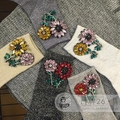 2016 Calcetines de Mujer Calcetines de La Muchacha Marca Tide Gem Diamond Taladro Manual Pequeñas Flores Brillantes Para El Filamento Del Tubo Corto Pila de Mujeres