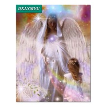 3d diy diamond embroidery coss-stitch kits mosaic angels painting paint pictures on canvas baby decor
