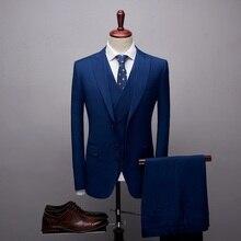 c5c090858cd TianQiong nueva llegada trajes para hombres 2019 azul cielo 3 piezas trajes  de boda para hombres Slim Boutique negocio fiesta Fo.