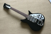 Custom Shop Hot Sale Classical Ricken Black Color 3 Humbucker Pickups Backer Adolph Electric Guitar Top