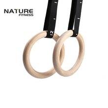 Высококачественные деревянные гимнастические кольца 28 мм для домашнего фитнеса и спортзала Crossfit для силовых тренировок
