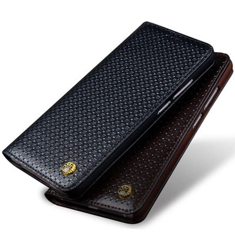 D'origine Crocodile Motif de Grain de Litchi En Cuir Véritable Flip Housse pour Blackberry Motion 5.5 Cas Couverture de Téléphone Livraison Gratuite