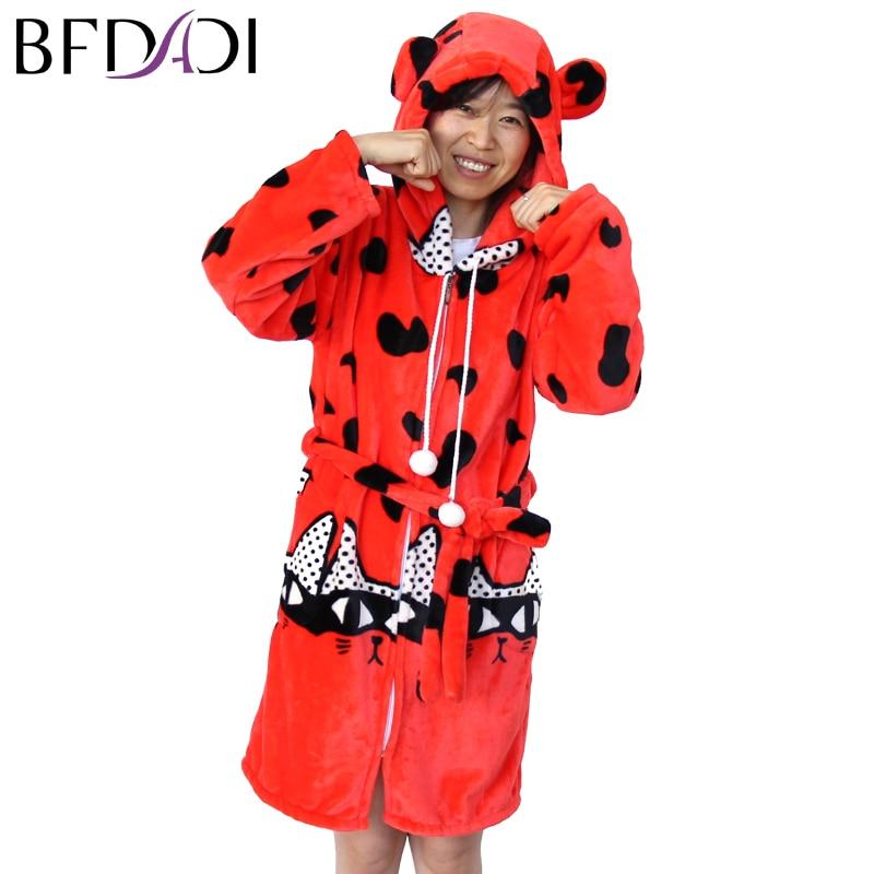 BFDADI Ladies Winter Autumn Soft Coral Fleece Bath Robe Love Lingerie Nightwear Kimono Warm Sleepwear Bathrobe For Women 4xl 201
