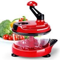 Multifunction Food Processor Kitchen Manual Food Vegetables Chopper Cutter Mixer Salad Maker Eggs Stirrer Kitchen Cooking Tools