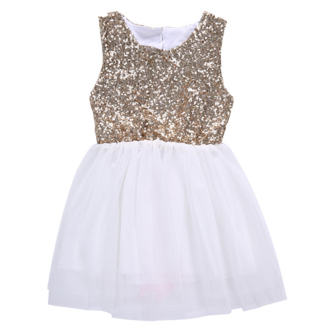 3a8c76354 Kids Sequins Baby Girls Infantil Child Dress Bow Backless Party ...