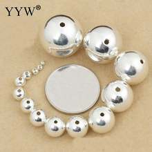 Бусины шарики серебряного цвета металлические бусины 2 16 мм