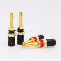 Viborg BP613G Pure Copper 24K Gold Plated Binding post Speaker Terminal hifi speaker amp long Binding post