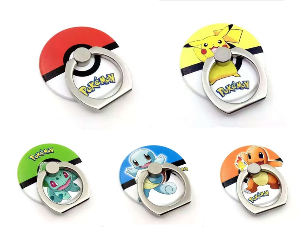 New Cartoon Pokemon Go Pikachu Finger Ring Phone Holder Poke Ball Mobile  Phone Stents for iPhone Samsung all Smart Phone d0d5dc6857ad