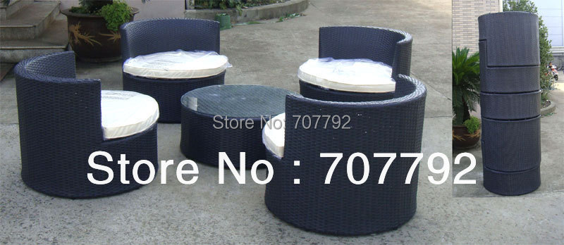 2017 Rattan Garden Furniture Round Stacking Sofa Set In Sets From On Aliexpress