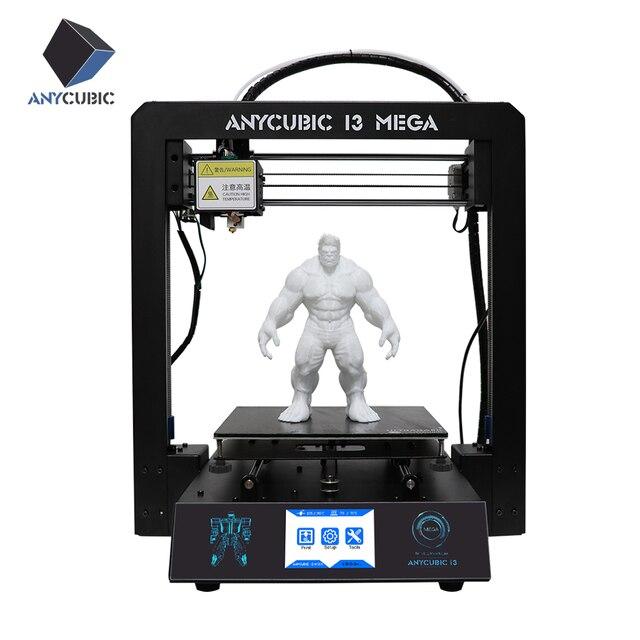 ANYCUBIC I3 Mega 3D Printer Full Metal Plus Size Desktop Frame 3.5 Inch TFT Screen Impresora 3D Drucker DIY Kit Gadget Extruder