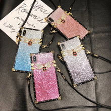 Girl Glitter Soft Back Cover Cases for iphone 7 8 6SPlus Luxury Cute Bling TPU Case for Samsung S8 S9 S10Plus Note8 9 Phone Case