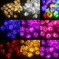2017 NEW 50 LED Cor de Rosa Flor Rosa Bateria Operado Luz de Fadas Casamento Quarto Decoração 5 m quente