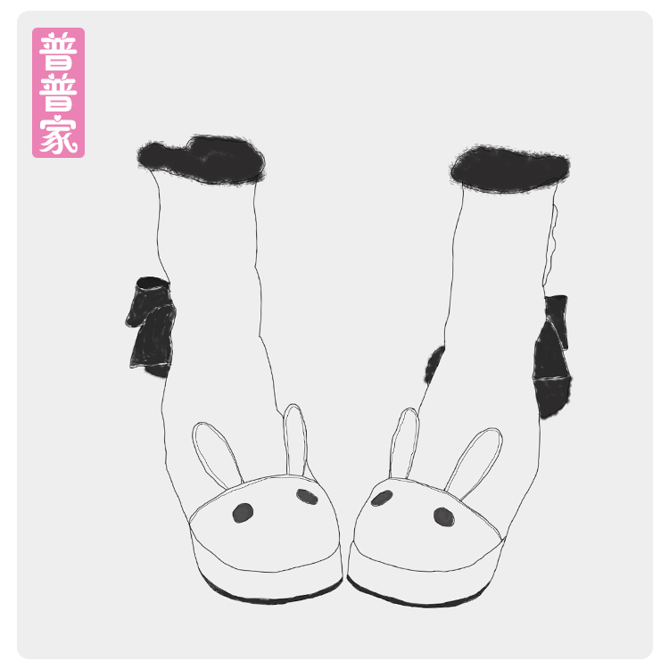 Princess sweet punk shoes Japanese winter and cashmere rabbit ears Lolita cotton boots COS animation Lolita boots women pu8881 super lovely white rabbit ears lolita princess platform heels shoes comfortable round toe cos shoes