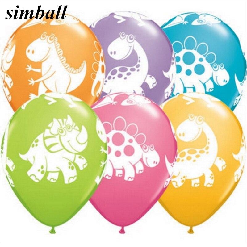 100 pcs/lot 12 pouces Dinosaure Ballon Épais 2.8g Imprimé Latex Ballon Enfants D'anniversaire Air Boule/Partie Fournitures/Décoration de mariage