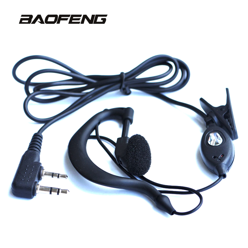 Baofeng UV-5R Original Earphone Ear Hook Walkie Talkie Earpiece With PTT Button For UV 5R BF-888S 5RE 5RA CB Radio(China)