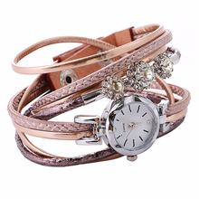 Женский браслет с бриллиантовым кольцом женские часы кожаный