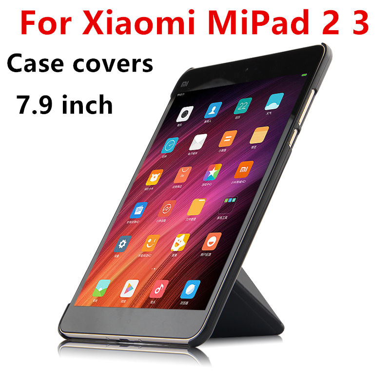Case For Xiaomi Mipad2 Mipad 2 3 Protective Smart Cover for Xiaomi Tablet PC 2 3 Case mipad2 Mi Pad2 3 PU Protector Sleeve 7.9
