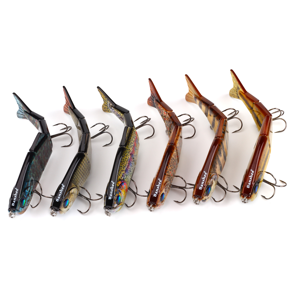 6pcs/lot fishing lure VMJ04 8 Multi Jointed swimbait pike Sinking isca Artificial hard bait wobbler tackle pesca 4 sections