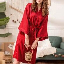 Ночная одежда для женщин пикантные пижамы для полиэстер длинные халаты одевание ночная рубашка мягкие шелковое платье