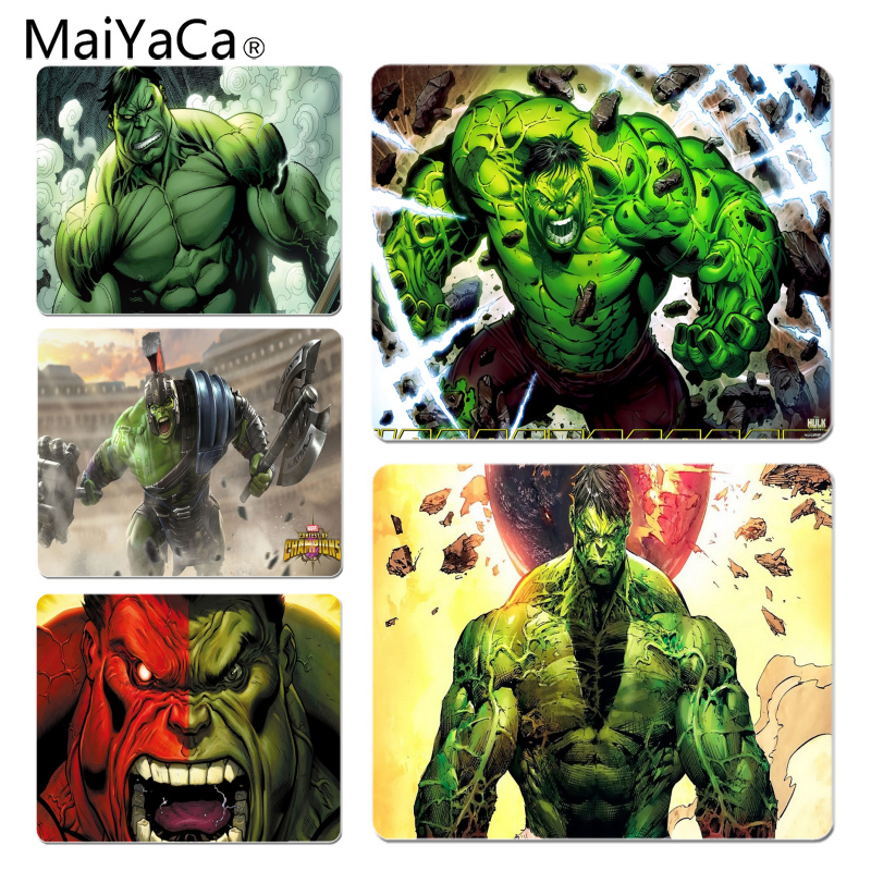 MaiYaCa High Quality Hulk Unleashed Customized laptop Gaming mouse pad Size for 180x220x2mm and 250x290x2mm Small Mousepad