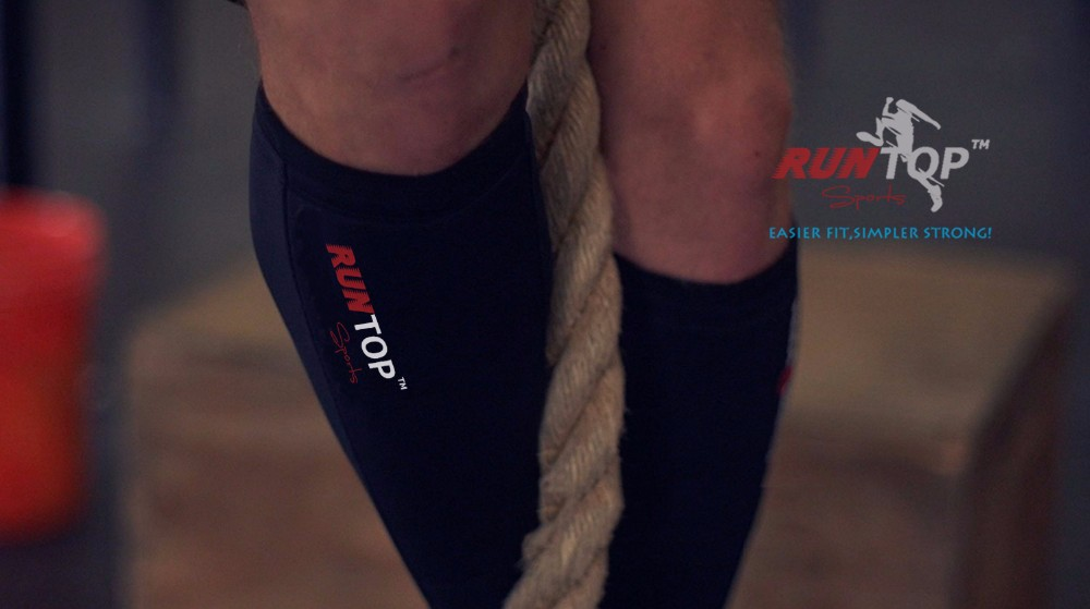 RUNTOP 5mm Neoprene Shin Guards Sleeves Shields Calf Protector Compression Crossfit WODS Weight Lifting Box Jumps Rope Climbs RockTape10