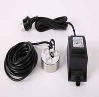 Ultrasonic Mist Maker 3 Head Nebulizer Atomizer Fogger With LED Lights For Air Humidifier
