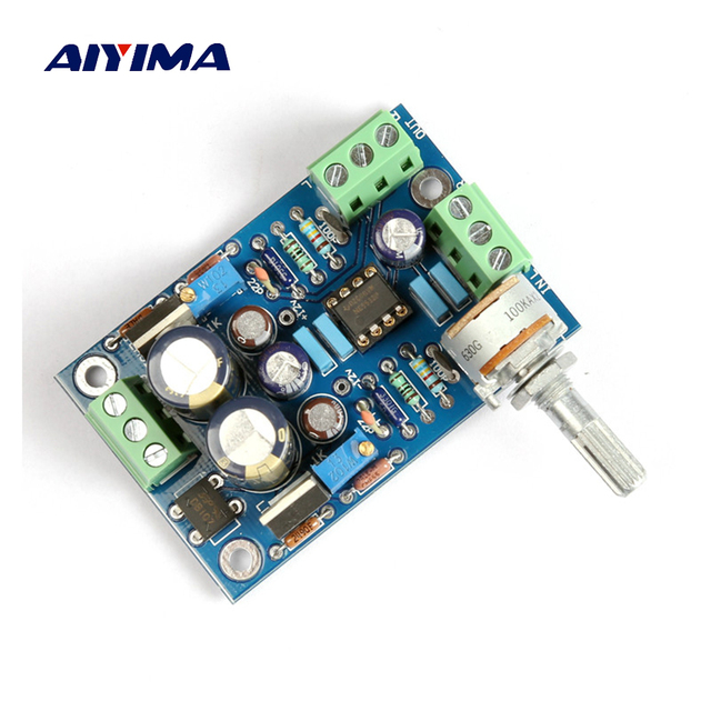 Aiyima Dual OP Amp NE5532 Preamp Board Fully-coupled Preamplifier For LM3886/TDA7293/LM4766/LM1875 DIY