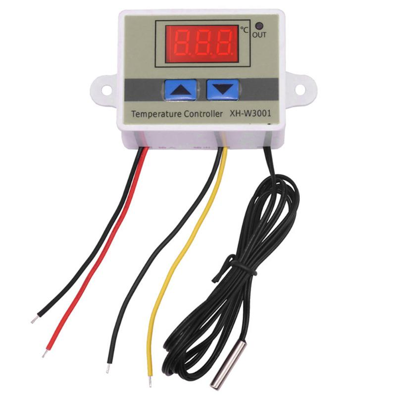 12V 10A Direct Output Digital Led Temperature Controller Switch For Arduino Cooling Heating Switch Thermostat + NTC Sensor stc 1000 digital all purpose temperature controller with sensor for aquarium