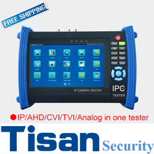 7 inch Analog 3.0 TVI IP AHD CVI camera tester in one CCTV Tester monitor with Digital multimeter for CCTV IP camera test