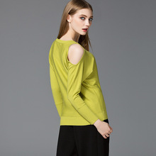 2016  Women Sweaters And Pullovers Autumn&Winter Female Cardigan Long Sleeve Dew shoulder Womens