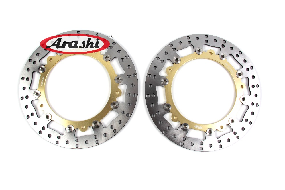 Arashi 2PCS R1200GS ADVENTURE 2006 2007 2008 2009 2010 2011 2012 2013 2014 2015 2016 2017 CNC Front Brake Discs Rotors For BMW new cnc fender eliminator kit license plate holder for 2006 2007 2008 2009 2010 2011 2012 yzf r6 chinese spare parts accessory