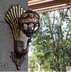 Europejski odkryty dziedziniec na zewnątrz wodoodporny balkon retro drzwi do willi ogród amerykański kinkiet Zewnętrzne kinkiety LED    -