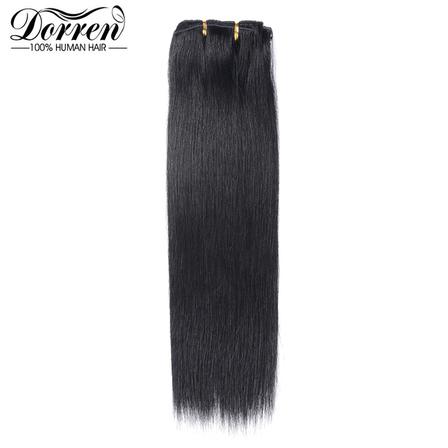 Doreen 10 12 14 16 Malaysia Short Double Weft Clip In Human Hair
